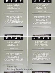 2006 Service Manual PT Cruiser Sedan & Convertible Volume 1, 2, 3, 4