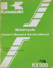 1983 Kawasaki KX500-A1 KX 500 Owners Service Manual Original Factory Shop Repair