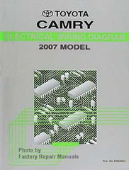 2008 Toyota Camry Electrical Wiring Diagrams Original Factory Manual Factory Repair Manuals