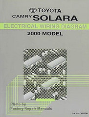 2000 Toyota Camry Solara Electrical Wiring Diagrams - Original Factory Manual