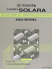 Toyota Camry Solara Electrical Wiring Diagrams 2002 Model