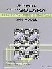 2006 Toyota Camry Solara Electrical Wiring Diagrams - Original Factory Manual
