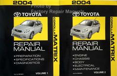 2004 Toyota Matrix Repair Manual Volume 1, 2