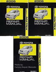 2006 Toyota Matrix Factory Service Manual 3 Volume Set Original Shop Repair