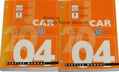 Chevrolet Cavalier Pontiac Sunfirer J Car 2004 Service Manual