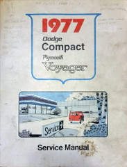 1977 Dodge Compact Van Plymouth Voyager Service Manual