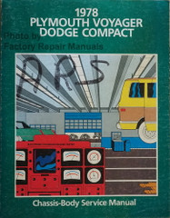 1978 Plymouth Voyager Dodge Compact Service Manual