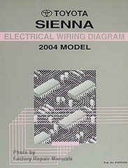 2004 Toyota Sienna Electrical Wiring Diagrams Original Shop Manual