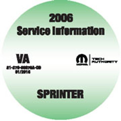2006 Dodge Sprinter Mopar Service Manual