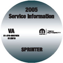 2005 Dodge Sprinter Mopar Service Manual