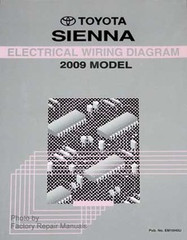 2009 Toyota Sienna Electrical Wiring Diagrams - Original Shop Manual