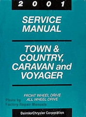 2001 Service Manual Town & Country, Caravan and Voyager