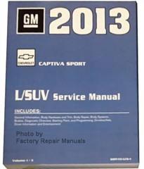 2013 Chevrolet Captiva Sport L/SUV Service Manual