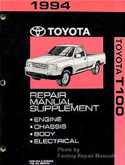 1994 Toyota T100 Repair Manual Supplement