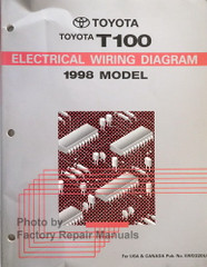1998 Toyota T100 Electrical Wiring Diagram