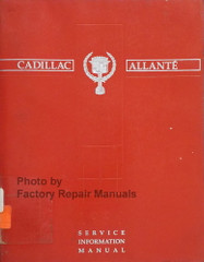 1990 Cadillac Allante Factory Service Manual