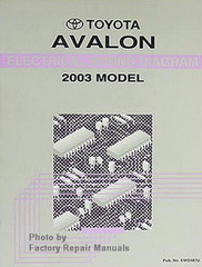 2003 Toyota Avalon Electrical Wiring Diagrams