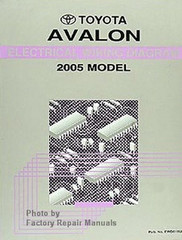 Toyota Avalon Electrical Wiring Diagrams 2005 Model