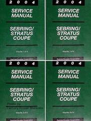 2004 Service Manual Sebring/Stratus Coupe Volume 1, 2, 3, 4