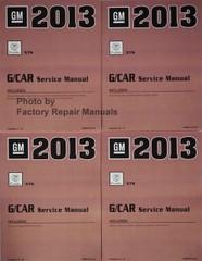 2013 Cadillac XTS Service Manuals Volume 1, 2, 3, 4
