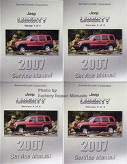 2007 Jeep Liberty Factory Service Manual Volume 1, 2, 3, 4