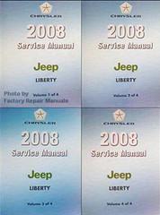 2008 Service Manual Jeep Liberty Volume 1, 2, 3, 4