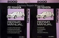 2000 Toyota Avalon Repair Manual Volume 1, 2