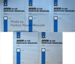 2009 Cadillac STS and STS-V Service Manual Volume 1, 2, 3, 4, 5
