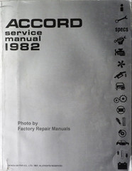 Honda Accord Service Manual 1982