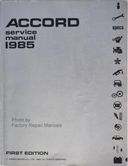 1985 Honda Accord Factory Service Manual – Original Shop Repair