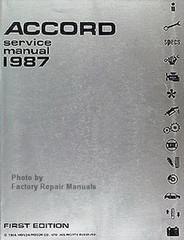 1987 Honda Accord Factory Service Manual – Original Shop Repair