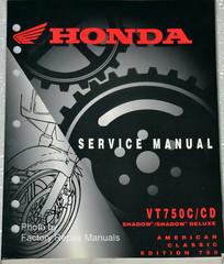 1998-2003 Honda Service Manual VT750C/CD  Shadow/Shadow Deluxe American Classic Edition 750