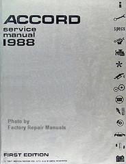 1988 Honda Accord Factory Service Manual – Original Shop Repair