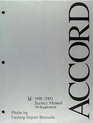 1998-2002 Honda Accord Service Manual V6 Supplement