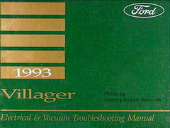 1993 Mercury Villager Electrical & Vacuum Troubleshooting Manual