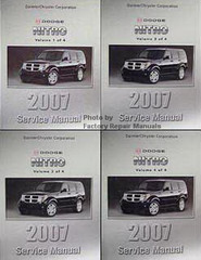 2007 Dodge Nitro Factory Service Manual Volume 1, 2, 3, 4