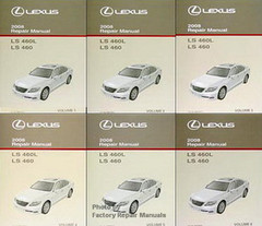 2008 Lexus LS460 Factory Repair Manual 6 Volume Set - LS 460 Original Shop Service