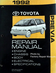 1992 Toyota Previa Repair Manual