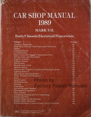 1989 Lincoln Mark VII Shop Manual Body/Chassis/Electircal/Powertrain