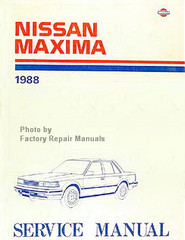 1988 Nissan Maxima Factory Service Manual - Original Shop Repair