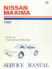 1989 Nissan Maxima Factory Service Manual - Original Shop Repair
