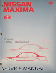 1991 Nissan Maxima Factory Service Manual - Original Shop Repair