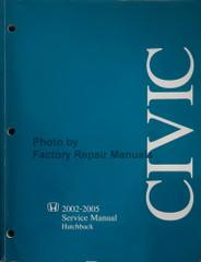 Honda 2002-2005 Civic Service Manual Hatchback