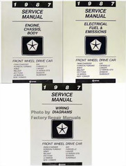 1987 Service Manual Front Wheel Drive Car Volume 1, 2, 3