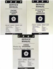 1987 Service Manual Front Wheel Drive Car Volume 1, 2, 3