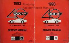 1993 Corvette Service Manual Book 1 and Book 2