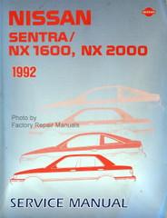 1992 Nissan Sentra / NX 1600, NX 2000 Factory Service Manual