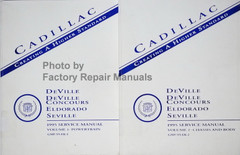 Cadillac Deville Deville Concours Eldorado Seville 1995 Service Manual Volume 1 and 2