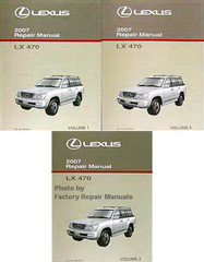 Lexus 2007 Repair Manual LX 470 Volume 1, 2, 3