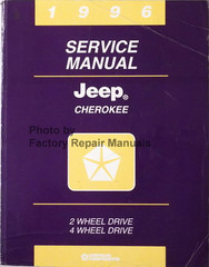 1996 Jeep Cherokee Service Manual 2 Wheel Drive 4 Wheel Drive